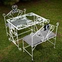 Sophisticate Glass Table and Bench Set, Children Table And Chair Sets | Toddler Table And Chairs | ABaby.com