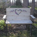Lovely Heart Toddler Bench, Kids Chairs | Personalized Kids Chairs | Comfy | ABaby.com