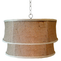 Baum Double Drum Pendant, Pendant Light | Drum Pendant Lighting | ABaby.com