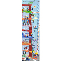 Construction Growth Chart, Train And Cars Themed Nursery | Train Bedding | ABaby.com