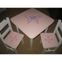 Butterfly Hand-painted Table and Chair Set