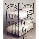 Western Finial Bunk Bed, Toddler Iron Bunk Beds | Kids Bunk Beds | ABaby.com