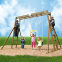 Classic Swing Set, Kids Swing Sets | Childrens Outdoor Swing Sets | ABaby.com