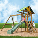 Franklin Swing Set, Kids Swing Sets | Childrens Outdoor Swing Sets | ABaby.com
