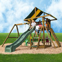 Lincoln Swing Set, Outdoor Toys | Kids Outdoor Play Sets | ABaby.com
