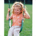 Sling Swing Green, Kids Swing Set Accessories |Outdoor Swing Sets | ABaby.com