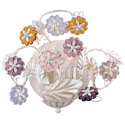 Crystal Rosettes Sconce, Nursery Wall Sconces | Girls Wall Sconce | ABaby.com