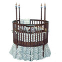 Chocolate and Blueberries Round Crib, Round Cribs for Babies | Circular Crib | Unique | Nursery