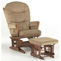Traditional Two Post Glider, Nursery Recliner Glider | Nursery Rockers | Upholstered Gliders For Nursery
