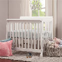 Kalani Mini Crib, Spindle Baby Cribs | White | 4 in 1 | 3 in 1 | Wooden | aBaby.com