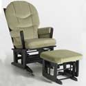 Modern Multi-Position Recliner Glider, Wood Glider | Sliech Gliders | ABaby.com