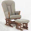 Multiposition Two Post Recliner Glider, Wood Glider | Sliech Gliders | ABaby.com