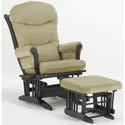Sleigh Multiposition Recliner Glider, Wood Glider | Sliech Gliders | ABaby.com