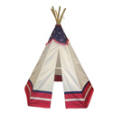 American 6' Teepee, Outdoor Playhouse | Kids Play Houses | Kids Play Tents | ABaby.com