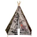 Hideaway Camouflage Tank Teepee, Outdoor Playhouse | Kids Play Houses | Kids Play Tents | ABaby.com