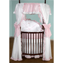 Darling Drapes Round Crib Bedding Set, Bedding For Round Cribs | ABaby.com