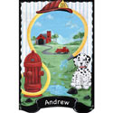 Firefighter Dept. 125 Wall Hanging, Fireman Themed Nursery | Fireman Bedding | ABaby.com