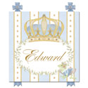 Posh Prince Crown Plaque, Princess Themed Nursery | Girls Princess Bedding | ABaby.com