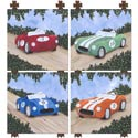 Classic Roadster Wall Art Collection, Train And Cars Themed Nursery | Train Bedding | ABaby.com