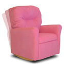 Contemporary Kid's Rocker Recliner, Kids Upholstered Chairs | Personalized Upholstered Chairs | ABaby.com