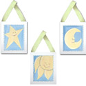 Sun, Moon, and Stars Wall Hangings, Kids Wall Art | Neutral Wall Decor | Kids Art Work | ABaby.com
