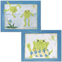 Frog Friends Wall Art, Frogs And Bugs Themed Nursery | Frogs And Bugs Bedding | ABaby.com