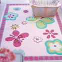 Elgin Flower Rug, Novelty Rugs | Cheap Personalized Area Rugs | ABaby.com