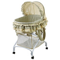 2-in-1 Bassinet to Cradle, Baby Girl Bassinet Bedding | Baby Girl Bedding Sets | ABaby.com