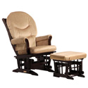 Sleigh Glider and Ottoman Combo, Wood Glider | Sliech Gliders | ABaby.com