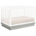 Harlow Acrylic Convertible Crib, Spindle Crib | White Spindle Crib | ABaby.com