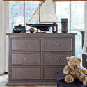 Foothill-Louis 6 Drawer Dresser Changer, Children's Dressers | Kids | Toddler | ABaby.Com
