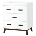 Scoot 3 Drawer Dresser Changer, Wicker Changing Tables | Wood Changing Tables | ABaby.com