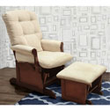 Sleigh Multiposition Lock Glider and Ottoman , Nursery Recliner Glider | Nursery Rockers | Upholstered Gliders For Nursery