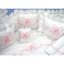 Embroidered Bow Bedding Set, Crib Comforters |  Ballerina Crib Bedding | ABaby.com