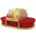 Reading Sectional with Storage, Baby Bookshelf | Kids Book Shelves | ABaby.com