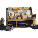 Colorful Essentials 6 Compartment Storage Book Display