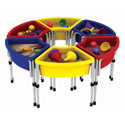 Round Sand and Water Table, Children Table And Chair Sets | Toddler Table And Chairs | ABaby.com