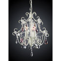 Eleanor Antique White Chandelier, Nursery Lighting | Kids Floor Lamps | ABaby.com
