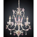 Elise Antique White and Rose Chandelier, Nursery Lighting | Kids Floor Lamps | ABaby.com