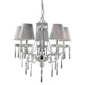 Polished Silver and Iced Glass 5-Light Chandelier, Nursery Lighting | Kids Floor Lamps | ABaby.com