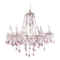 Pretty Pink Chandelier, Nursery Lighting | Kids Floor Lamps | ABaby.com