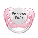 Expression Pacifiers-Set of 3, Pacifier Clips | Custom Pacifier Clips | Silver | ABaby.com