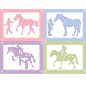Equestrian Love Wall Art, Girls Wall Art | Artwork For Girls Room | ABaby.com