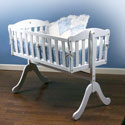 Euro Cradle, Wooden Bassinet | Antique Cradles | ABaby.com