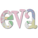 Eva Whimsical Patch Letters, Customized Wall Letters | Childrens Wall Letters | ABaby.com