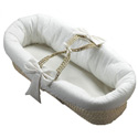 Eyelet Fitted Baby Moses Basket, Neutral Baby Baskets | Newborn Moses Basket | ABaby.com
