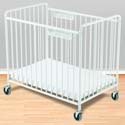 Chelsea Steel Crib, Portable Cribs For Toddlers | Folding Crib | Porta Cribs | ABaby.com