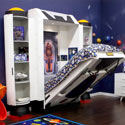 Spaceship Kids Wall Bed, Moon and Stars Themed Nursery | Cribs | Baby Bedding | Wall Decals