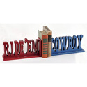 Ride�em Cowboy Bookends, Wild West, Western, Cowboy Themed Furniture, Decor For Childrens Rooms and Baby's Nursery.