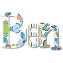 Feelin' Groovy Whimsical  Letters, Boys Wall Letters | Kids Wall Letters For Nursery | ABaby.com